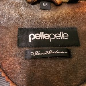 Pelle Pelle Jackets & Coats - MARC BUCHANAN PELLE PELLE BROWN LEATHER JACKET